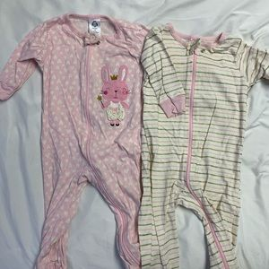 Girl footie pajamas